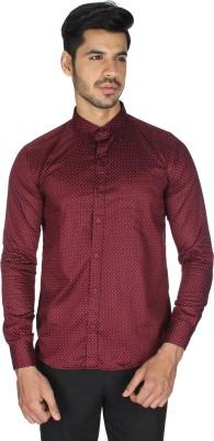 Shaurya-F Men's Printed Casual Maroon Shirt