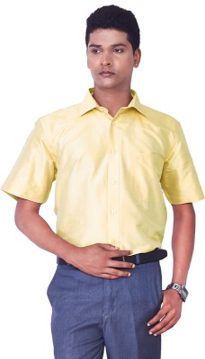 Mark Anderson Men's Solid Casual Yellow Shirt