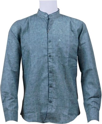 Ardeur Men's Solid Casual Green Shirt