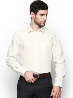 Protext Men,s Solid Casual Yellow Shirt