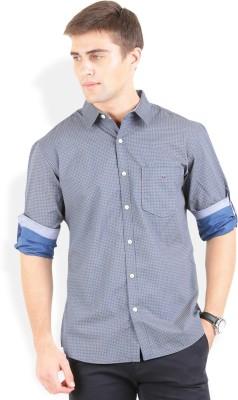 Bay Ridge Men's Printed Casual Blue Shirt