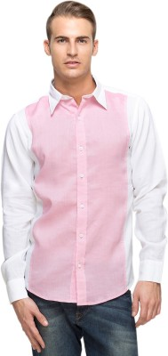 Oxolloxo Men's Solid Formal Pink Shirt