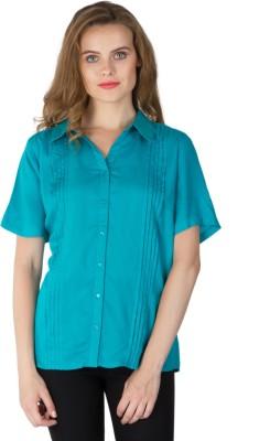Instinct Women's Solid Casual Green Shirt