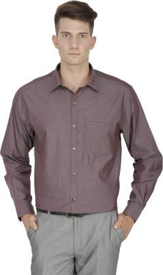 Kingswood Men's Solid Formal Brown Shirt