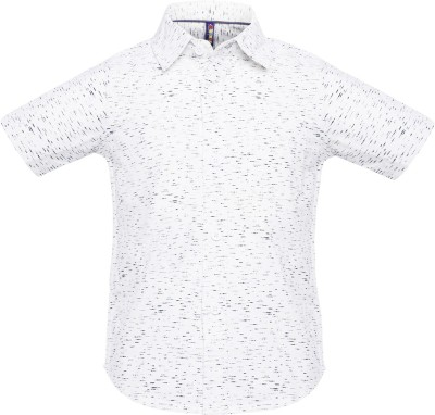 Tickles By Inmark Boy's Polka Print Casual White Shirt