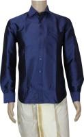 Mark Anderson Formal Shirts (Men's) - Mark Anderson Men's Solid Formal Dark Blue Shirt