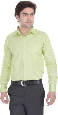 Lee Mark Men's Solid Formal Green Shirt