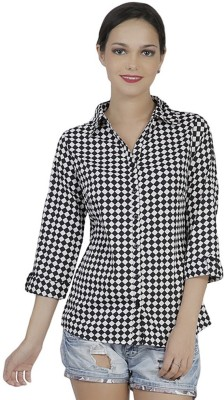Mask Lifestyle Women,s Checkered Casual Multicolor Shirt