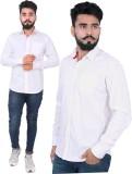 Hardys Men's Solid Wedding White Shirt (...