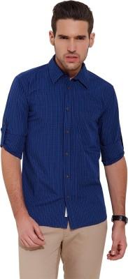Slub By INMARK Men's Checkered Casual Blue Shirt