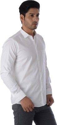 Easies Men's Solid Casual White Shirt