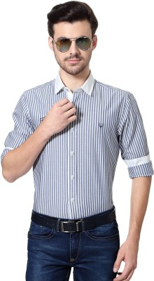 Allen Solly Men's Striped Sports Blue Shirt