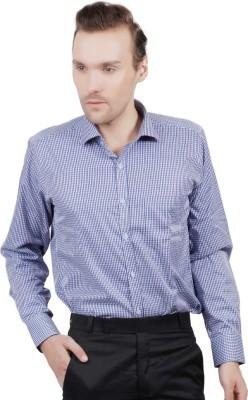 Jorzzer Roniya Men's Checkered Casual Blue, White Shirt