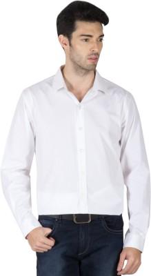 Roar and Growl Men,s Solid Formal White Shirt