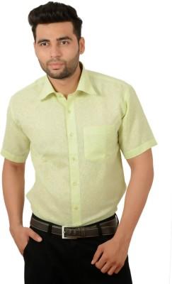 Studio Nexx Men's Woven, Checkered Formal Yellow, Green Shirt