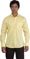 Bearberry Formal Shirts (Men's) - BearBerry Men's Solid Formal Yellow Shirt