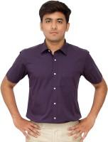 Kriss Formal Shirts (Men's) - Kriss Men's Solid Formal Purple Shirt