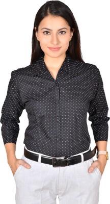 LGC Women's Printed Formal Black Shirt