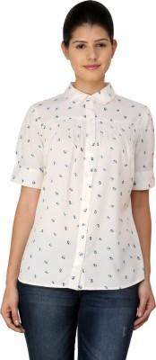 StyleToss Women's Printed Casual White Shirt