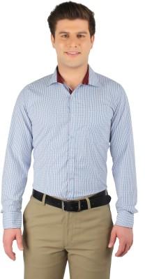 Zoro Auge Men's Checkered Casual White, Blue, Maroon Shirt
