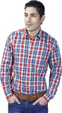 Spaky Men's Checkered Casual Blue, Red S...