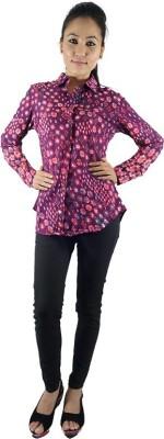 Shop More Women's Floral Print Casual Purple Shirt