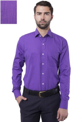 Tag & Trend Men's Solid Formal Purple Shirt