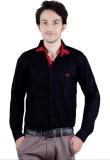 Zrestha Men's Solid Formal Black Shirt