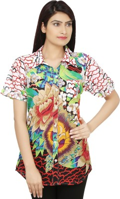 India Inc Women's Printed Casual Multicolor Shirt