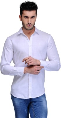 Feed Up Men's Solid Casual White Shirt