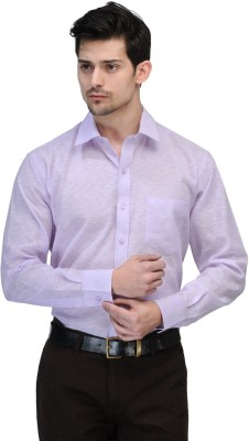 Vicbono Men's Solid Formal Purple Shirt