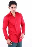 Alian Men's Solid Casual Red Shirt