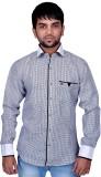 DreamOne Men's Printed Casual White Shir...