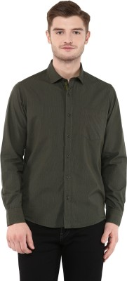 FUNK Men's Checkered Casual Dark Green Shirt