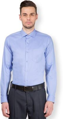 Mark Taylor Men's Solid Formal Blue Shirt