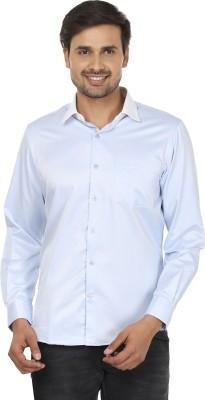 John Players Men's Solid Formal Blue, White Shirt