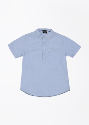 Cherokee Kids Boy's Solid Casual Blue Shirt