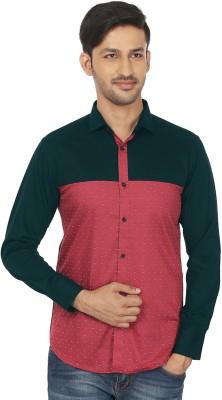 Shubh Shopping Men's Printed Casual Red, Black Shirt