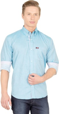 Union Street Men's Solid Casual Green Shirt