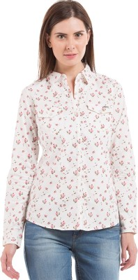 Flying Machine Women's Floral Print Casual Multicolor Shirt