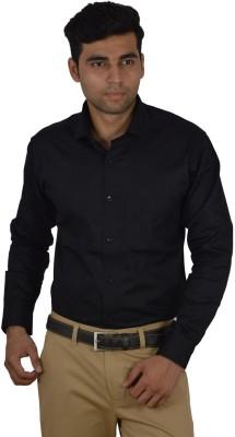 Studio Nexx Men's Solid Formal Black Shirt