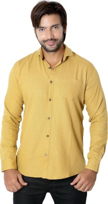 RED TOUCH Men's Printed Casual Beige Shirt