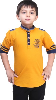 BAD BOY Boy's Solid Casual Yellow Shirt