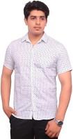 Rose Wear Formal Shirts (Men's) - Rose Wear Men's Printed Formal White Shirt