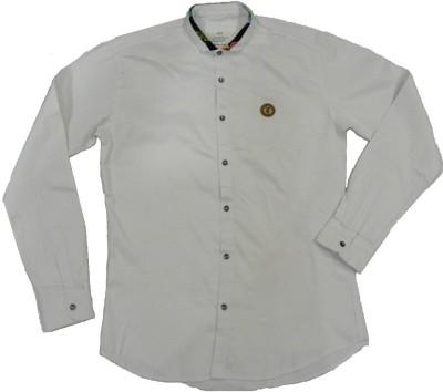 ARCS Agencies Men's Solid Casual White Shirt