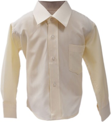 Sheena Boy's Solid Party Yellow Shirt