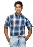 Relish Men's Checkered Formal Light Blue...