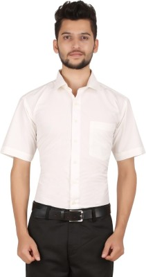 Stylo Shirt Men's Solid Formal Beige Shirt