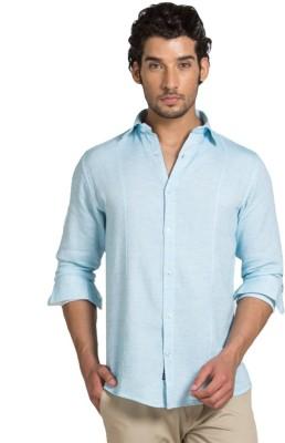 Klub Fox Men's Solid Casual Blue Shirt