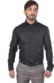 Success Men's Solid Formal Black Shirt